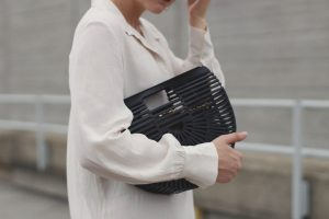 Workplace Outfit With Black Bag