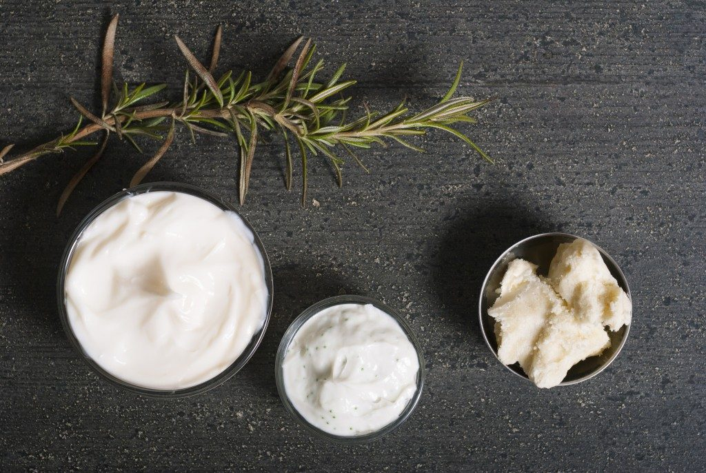 moisturizers and raw shea butter