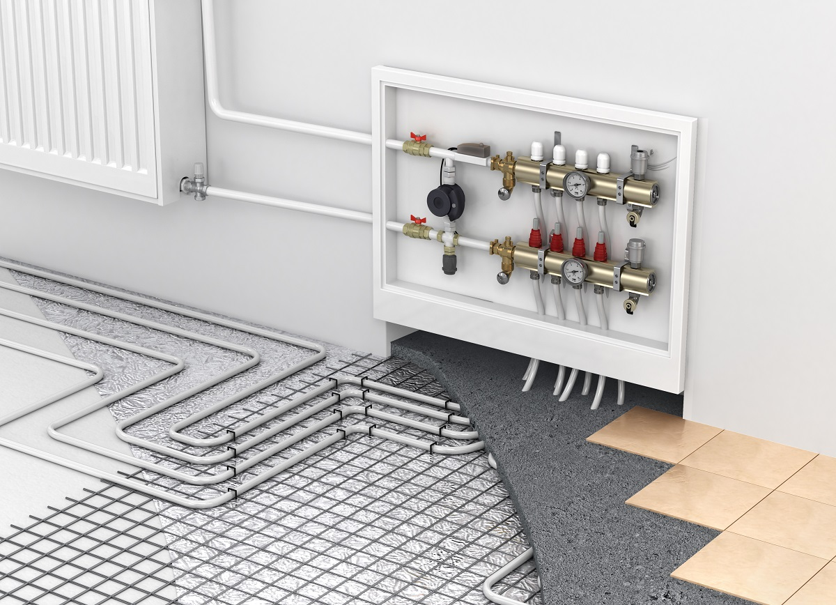 Radiant heating system structure