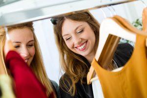 Women shopping dresses