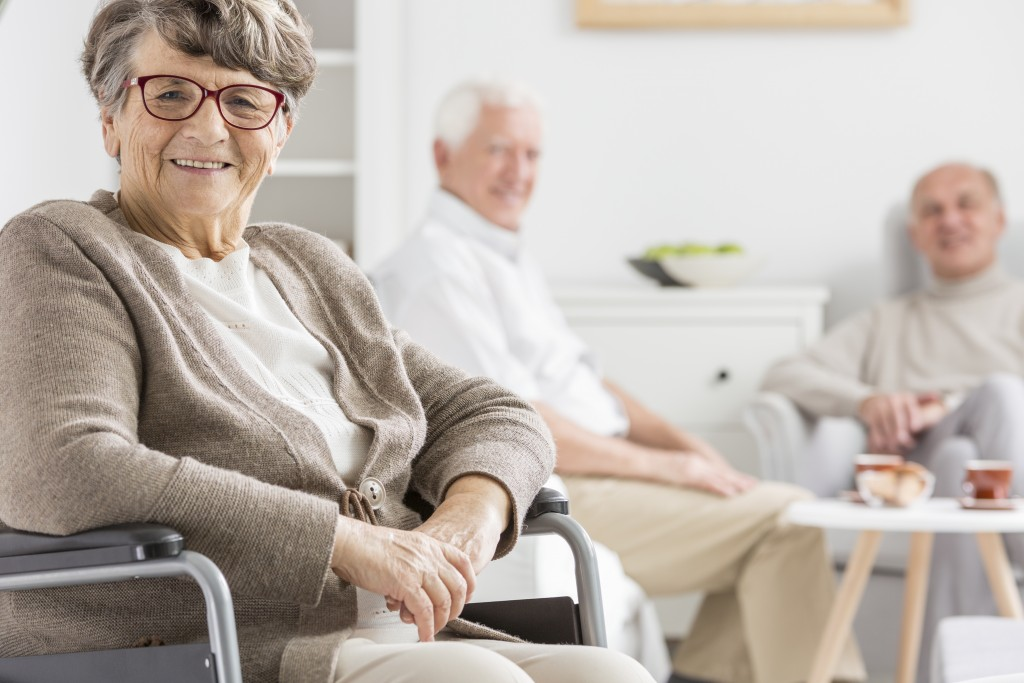 Seniors at an assisted living facility