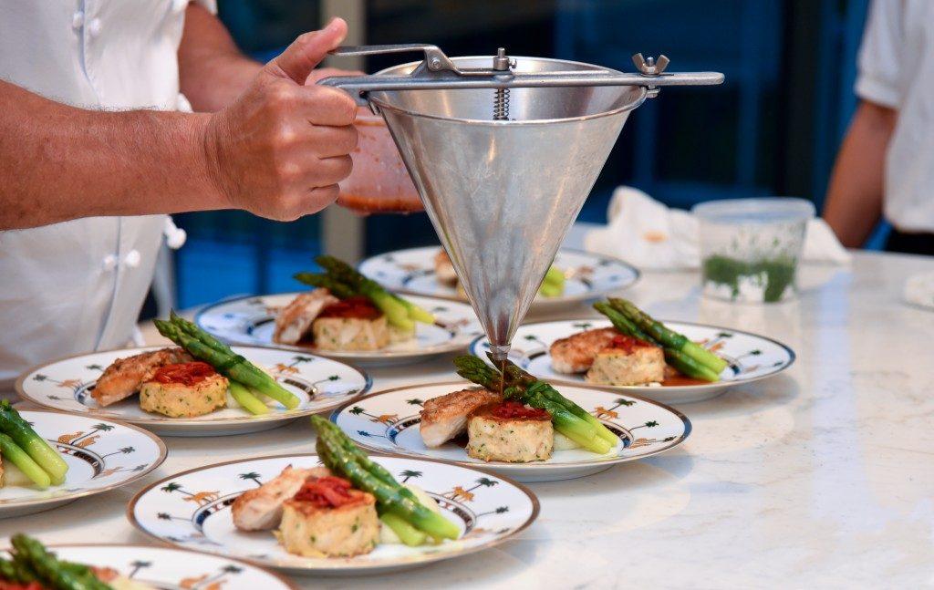 chef preparing a gourmet meal