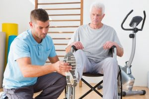 Elderly man in therapy