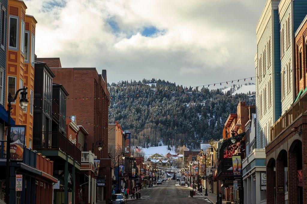 town near a ski rsort