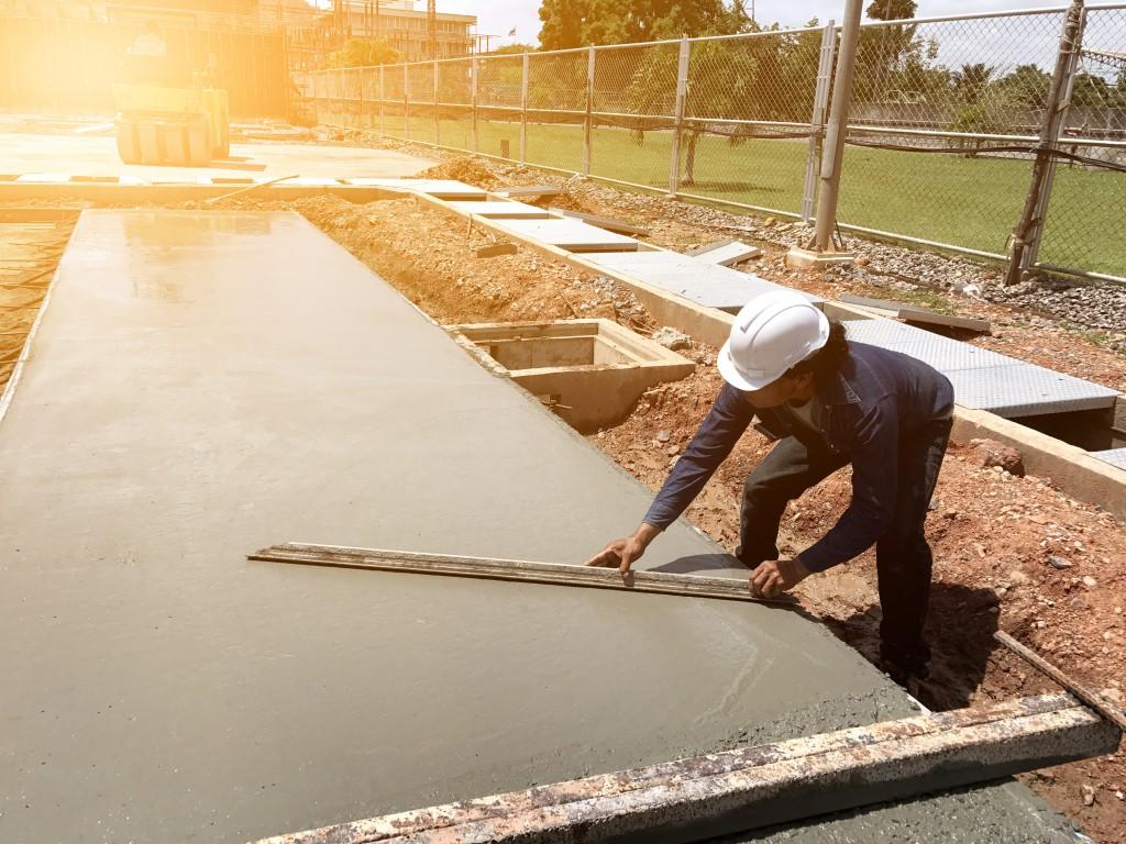 fixing concrete