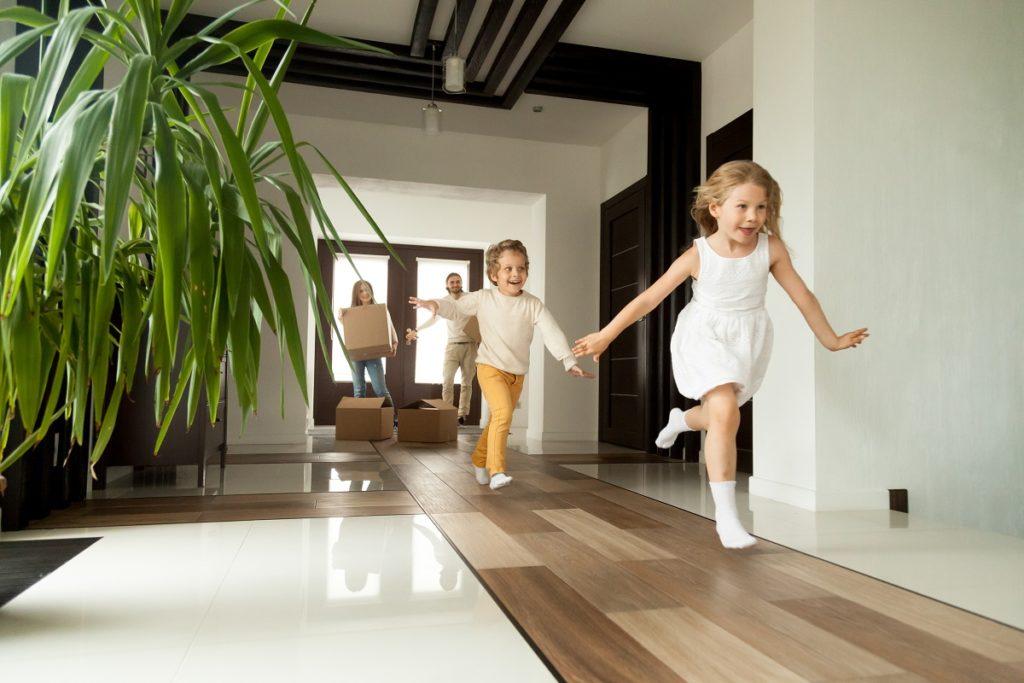 kids running around the house