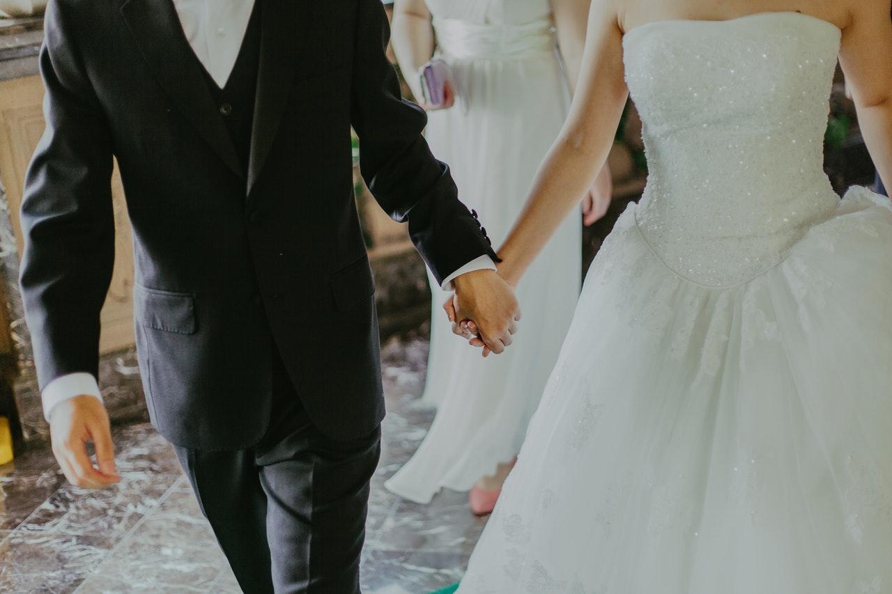 wedding of couple