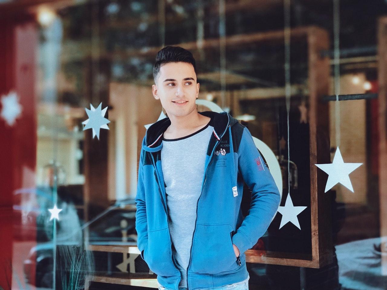 an attractive man standing