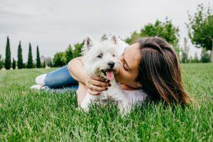 dog and mom