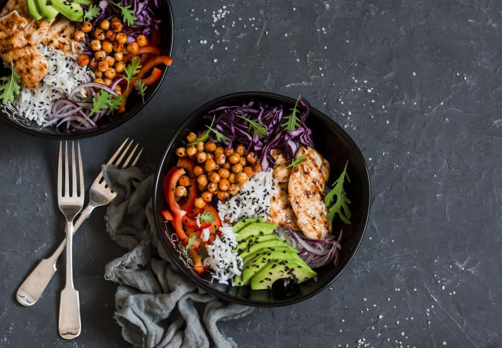 healthy salad bowls